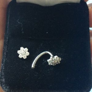 Bellybutton ring Sterling Silver 925
